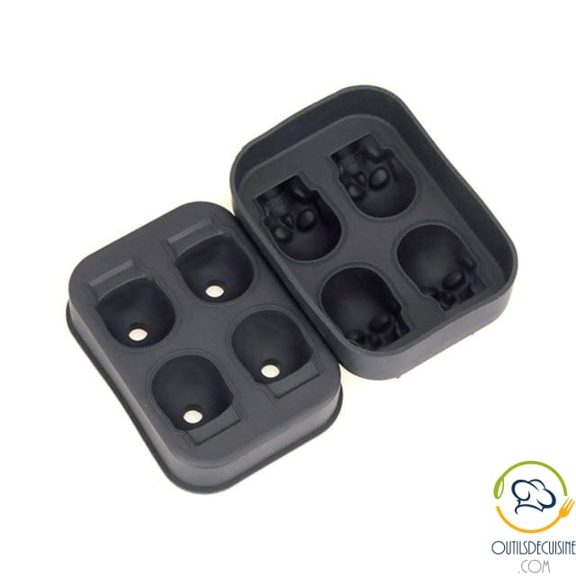 3D Silicone Skull Ice Cube Tray