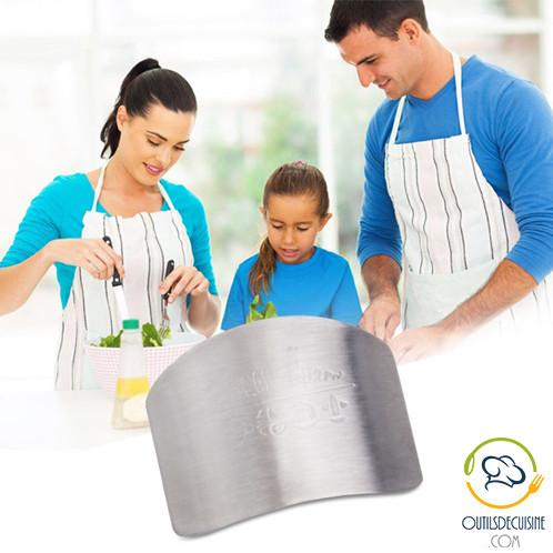 Protection - Stainless Steel Finger Guard Protector - Protect Cooking!