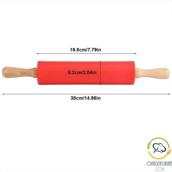 Silicone Pastry Roller With Wooden Handle