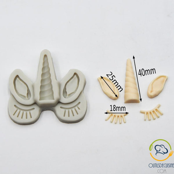 3D Unicorn / Ear / Silicone Lash Set