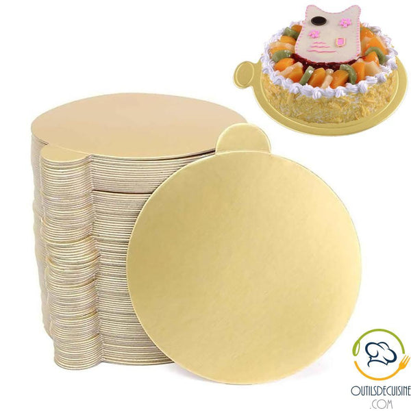 Gold Color Round Cake Stand