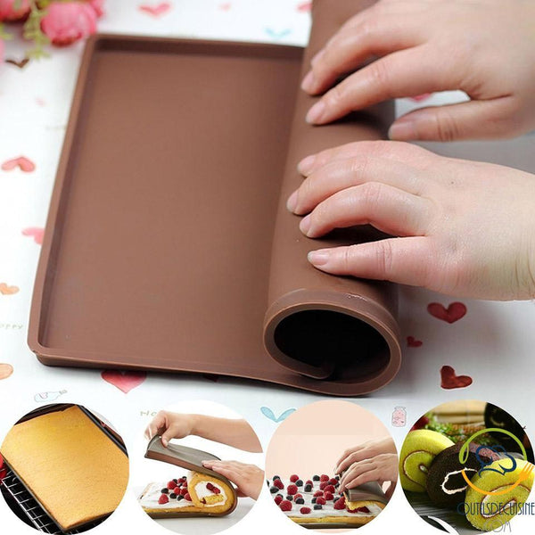 Baking And Pastry Mat With Edges For Rolled Cakes Or Meats