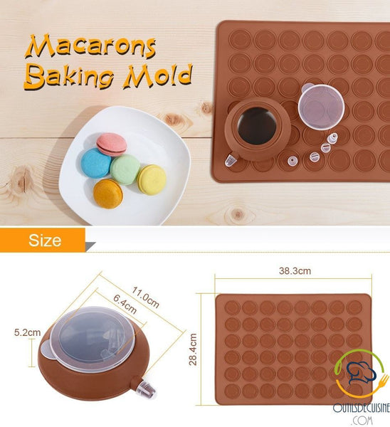 Carpet \ Cook Set for 42 Macarons - Silicone Mold