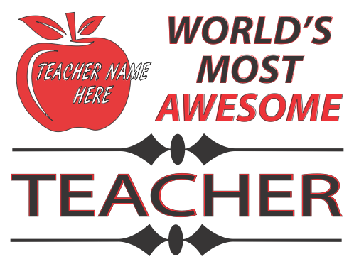 Teacher Appreciation Signs