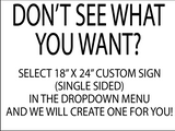 Yard Signs Special Occasions (Select the sign you want in the drop down menu.)