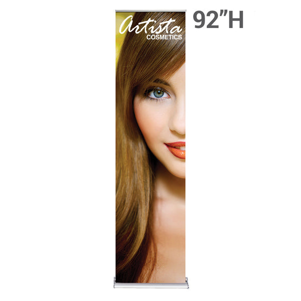 "Silver Step Retractable Banner 24"" Wide"