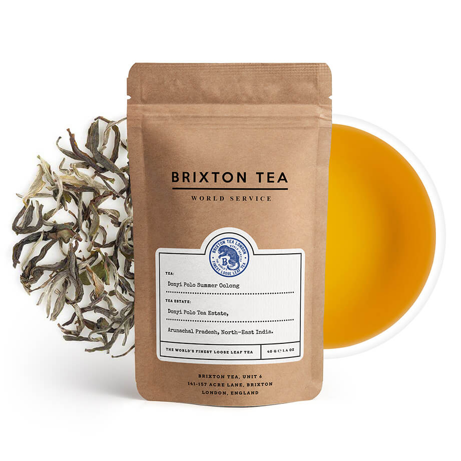 Brixton Tea ®, Donyi Polo, Single Estate, Summer Oolong Tea 40g