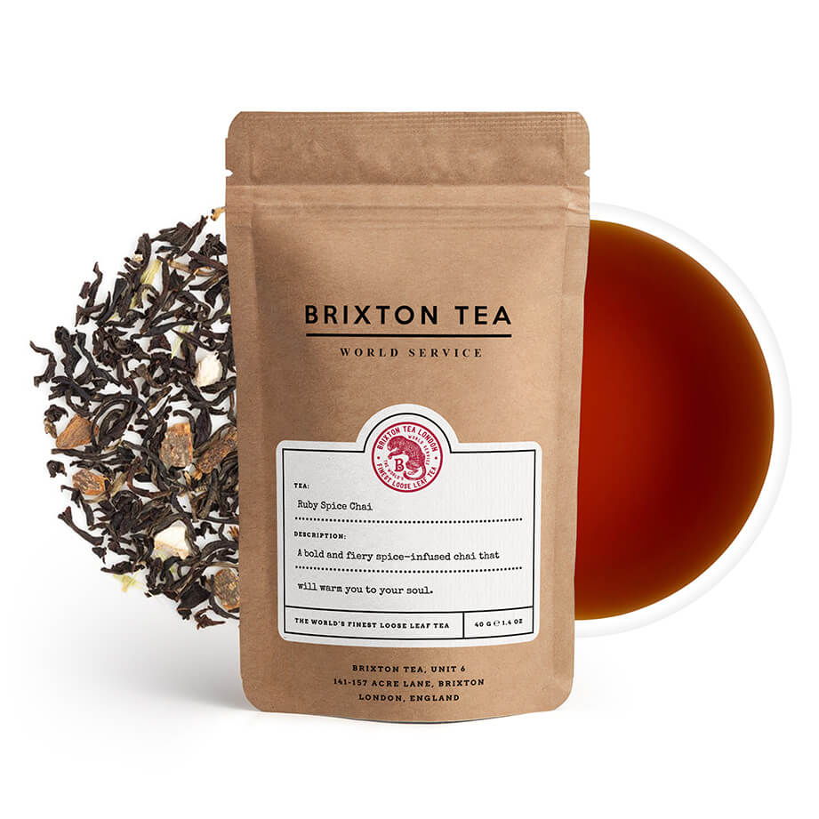 Brixton Tea ®, Ruby Spice Chai Tea 100g