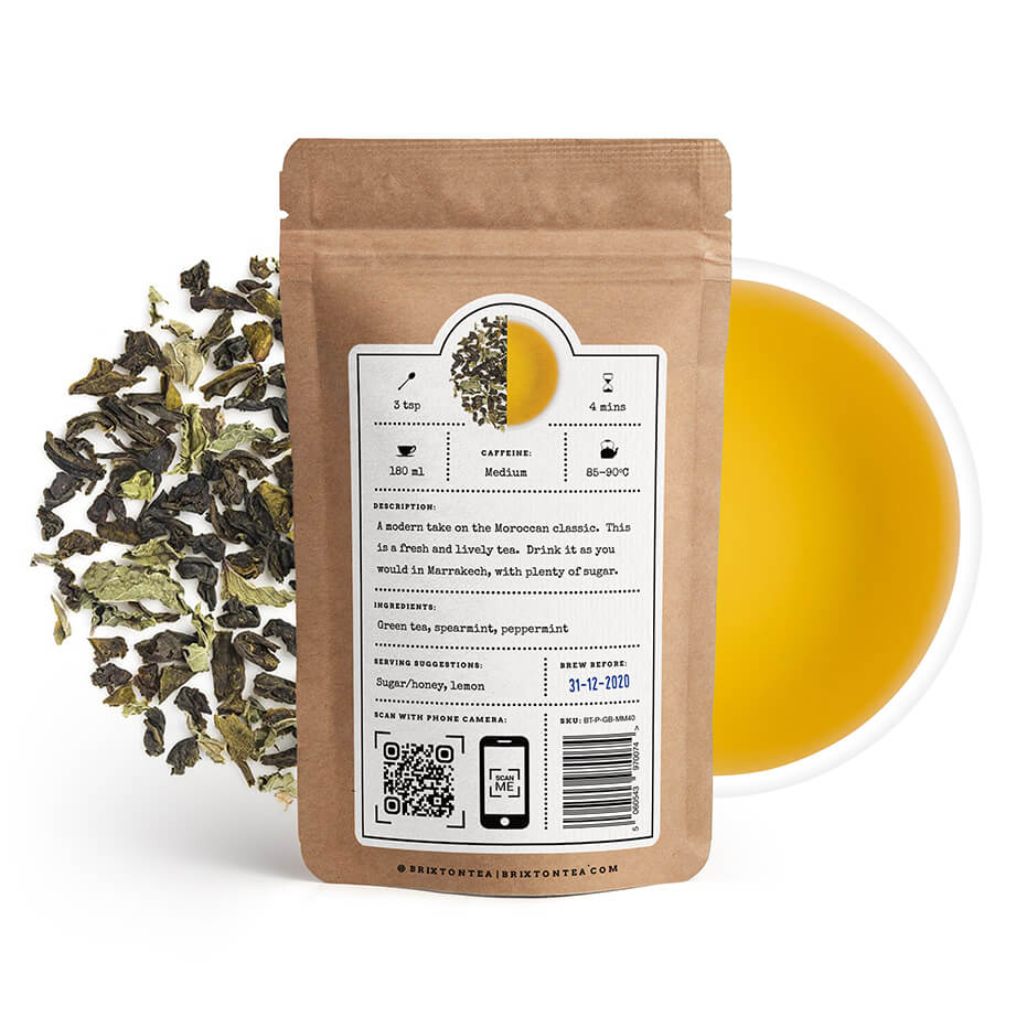 Brixton Tea ®, Marrakech Mint Green Tea 80g