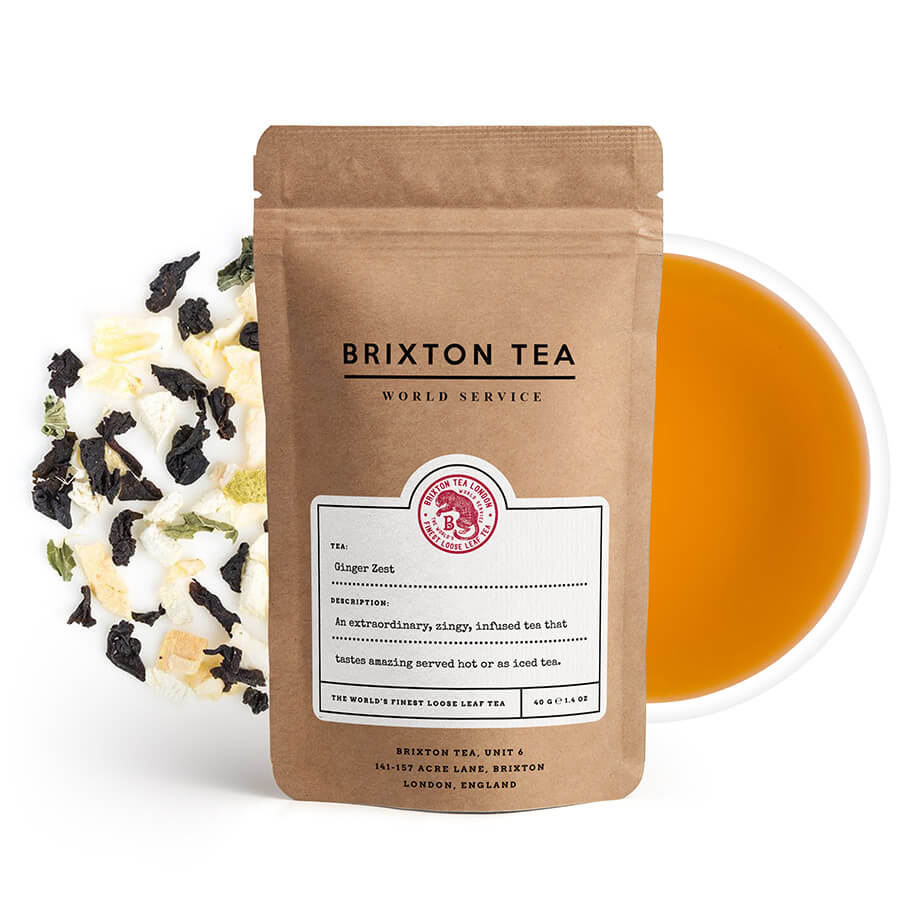 Brixton Tea ®, Ginger Zest Ice Tea 60g