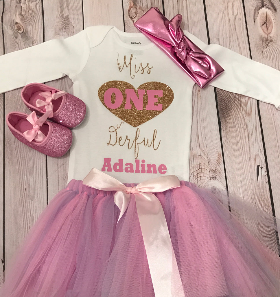 1st Birthday Outfit Girl.First Birthday Outfit Girl Miss Onederful Shirt 1st Birthday Outfit Girl Baby Girl Clothing Pink And Purple Tutu Outfit Gir