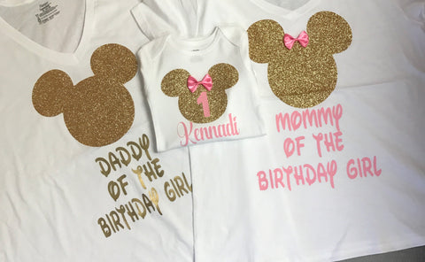 Mom And Dad Mickey Mouse Shirts First Birthday Shirt Daddy Of The