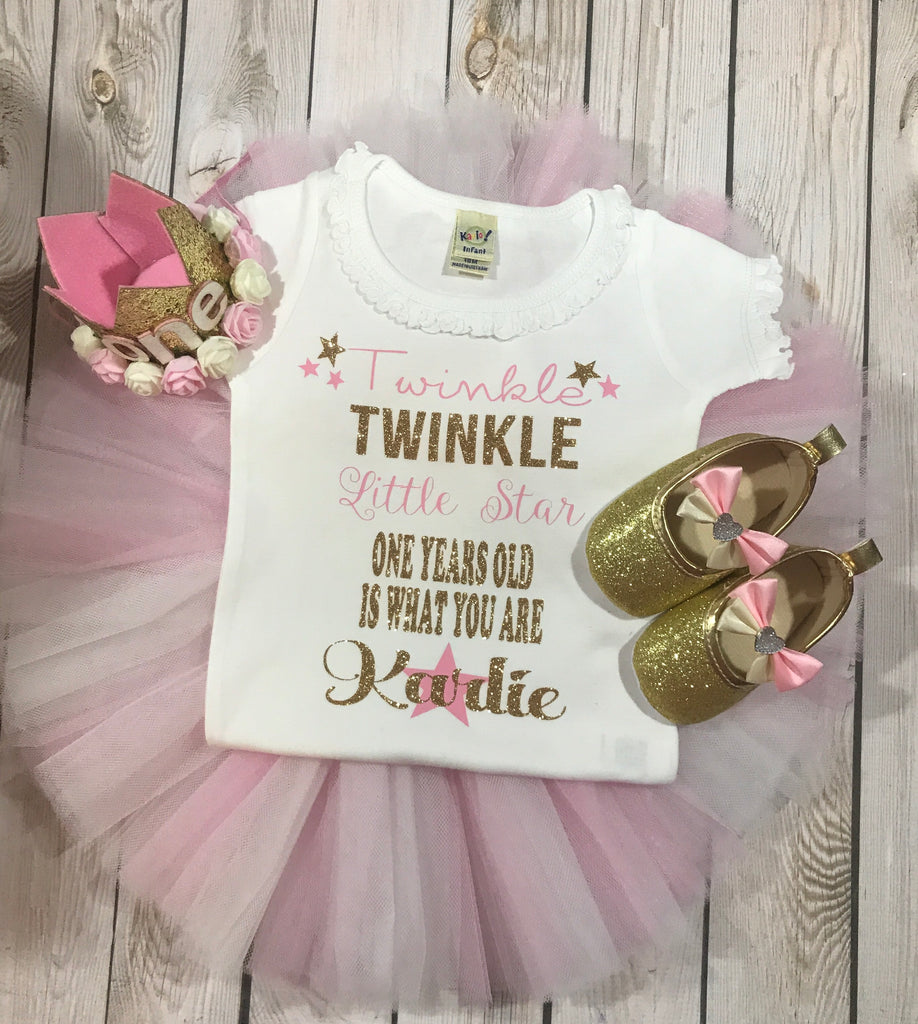 0e223d533 First birthday outfit girl, twinkle twinkle little star first birthday girl,  first birthday tutu ...