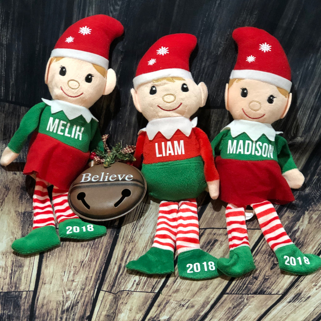 Elf Stuffed Animal Personalized Elves Christmas Gifts Kids