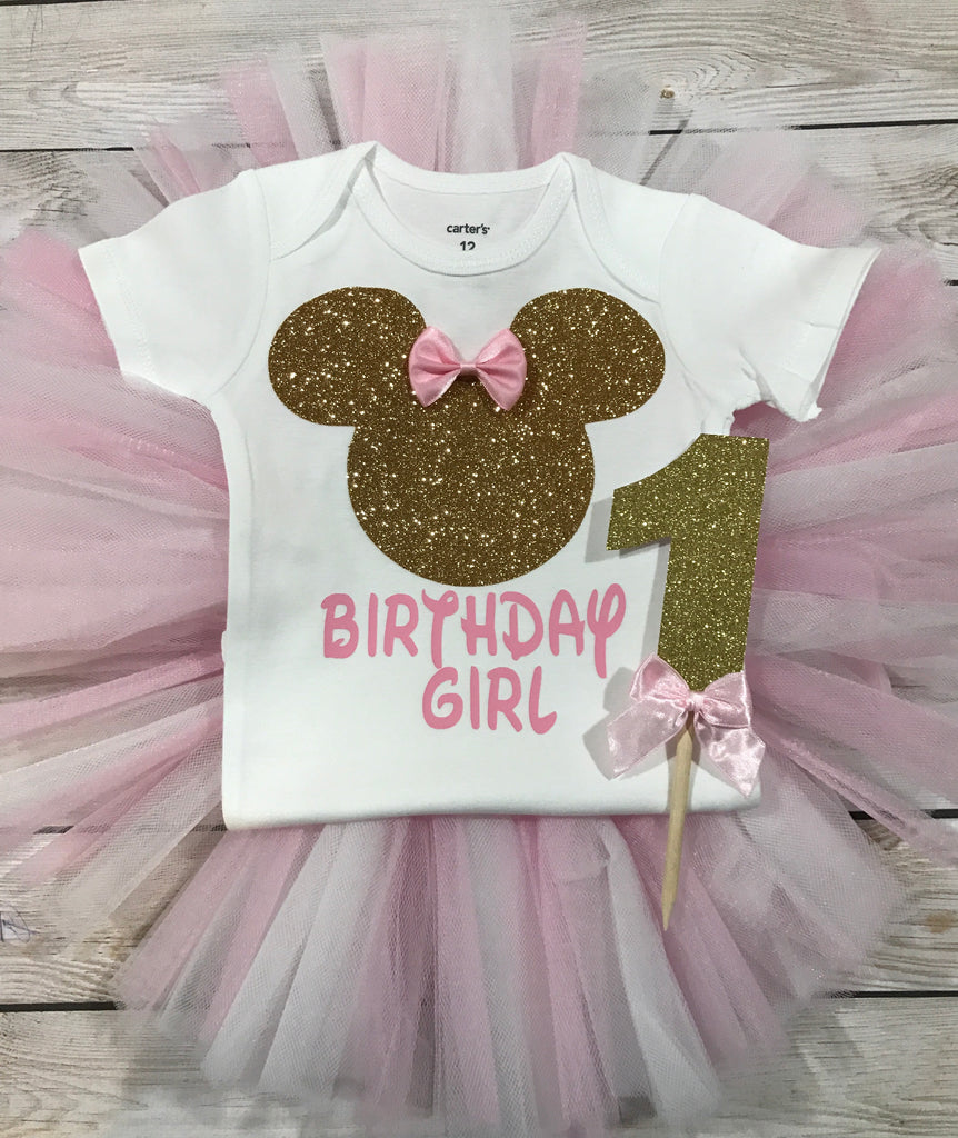 1679cd78796 First birthday outfit girl, 2nd birthday outfit girl, first birthday Minnie  Mouse, 2nd ...