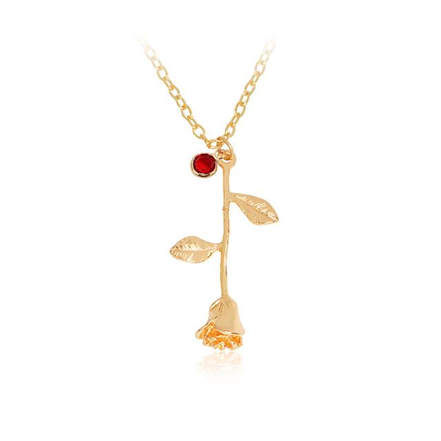Rose birthstone pendant necklace afford my fashion rose birthstone pendant necklace aloadofball Choice Image