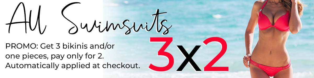 3x2 on all swimsuits promo riviera coco