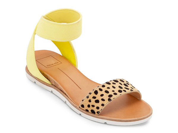 Yellow Cheetah Print VIVIAN SANDAL from Dolce Vita