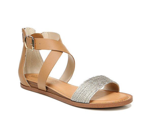 Light Brown/Gold Metallic RILEY SANDAL from Fergalicious