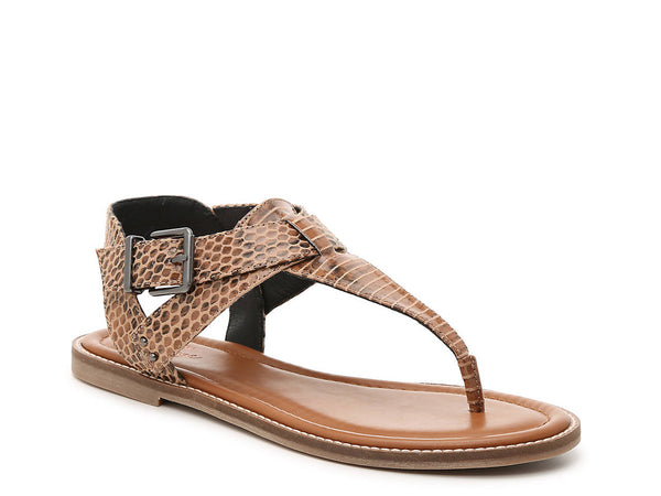 Brown Animal Print Leather PAXLEY SANDAL - Crown Vintage