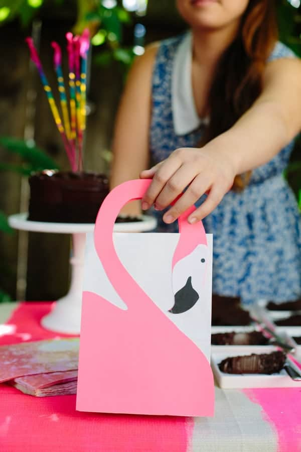 cute flamingo gift bag