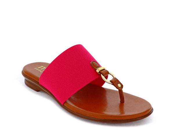 Fuchsia Fabric SONNIE SANDAL - Italian Shoemakers
