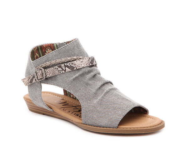 Grey/Brown Snake Print BLITZ SANDAL - Blowfish