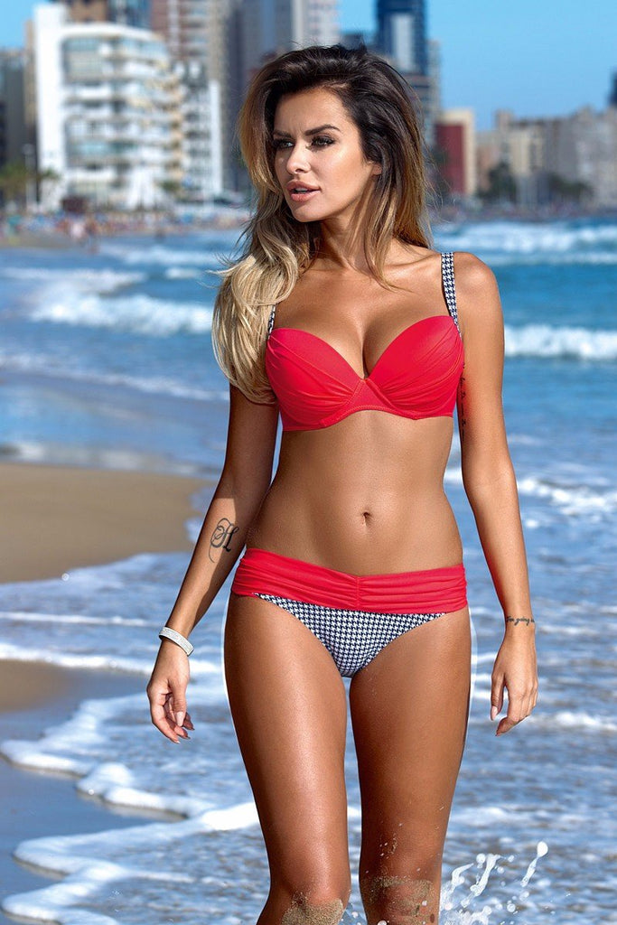 Keys Push Up Bustier Low Waist Bikini