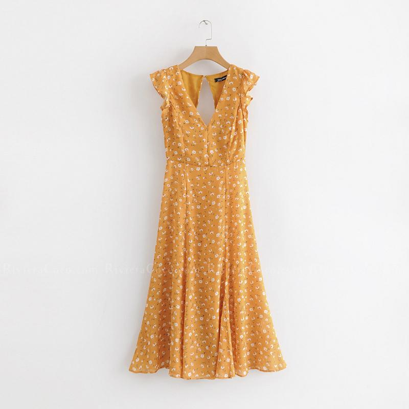 Cute Casual Yellow Summer Dress