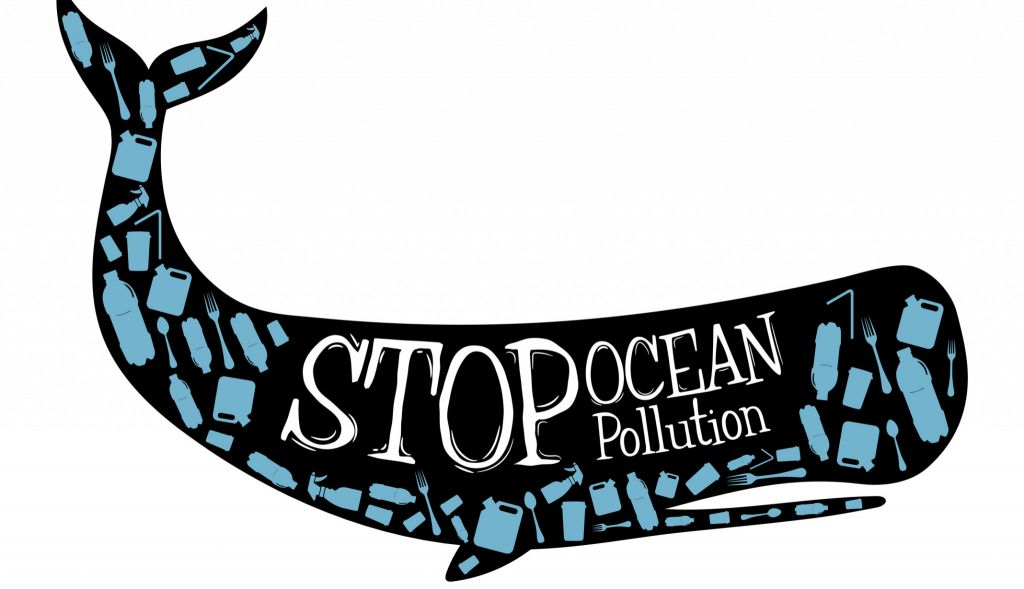 stop ocean pollution whale drawing