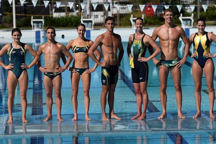 competitive swimwear australian team at the olympics