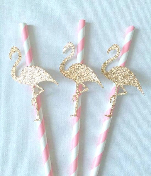 Flamingo Drink Straw