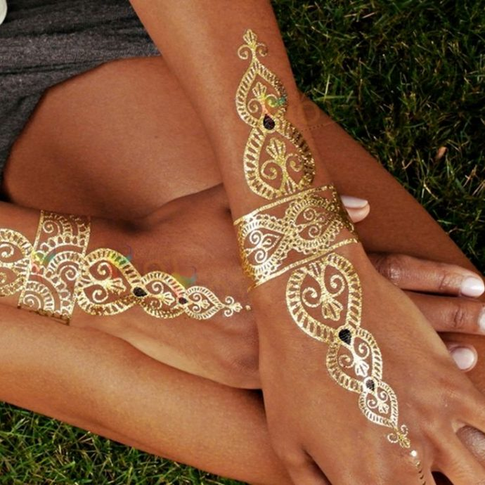 Gypsy Boho Temporary Tattoos Riviera Coco