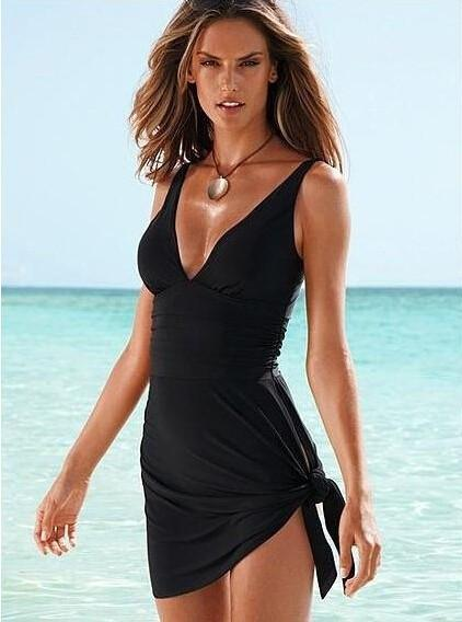 Montevideo black skirt one-piece swimsuit
