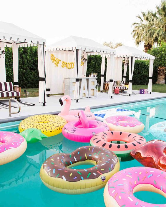 Donut Pineapple Pool Floats Riviera Coco