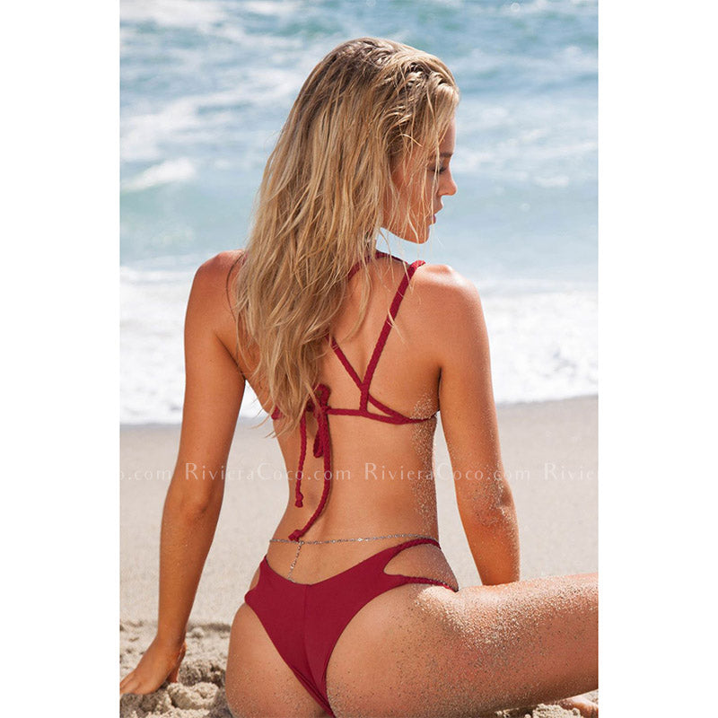 Bora Bora | Strappy Braided Triangle Cheeky Bikini