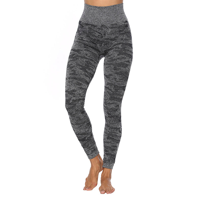 EVELYN | Camo Print Crisscross Top & Wide Waistband Legging | 3 Colors