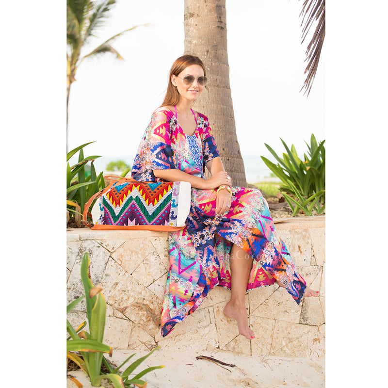 Colorful Tribal Kaftan