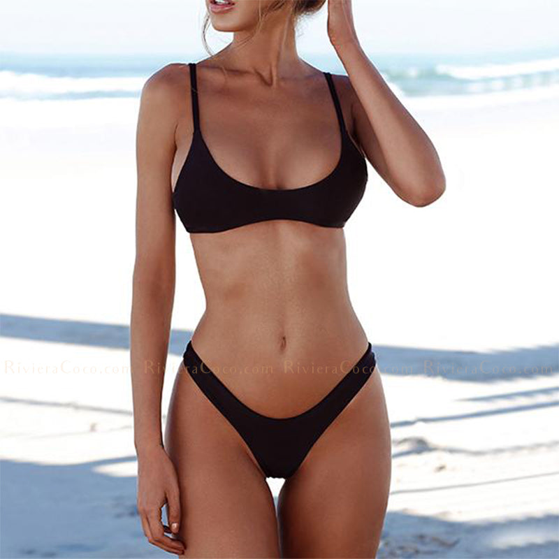Fort Lauderdale | Sporty Black Thong Bikini