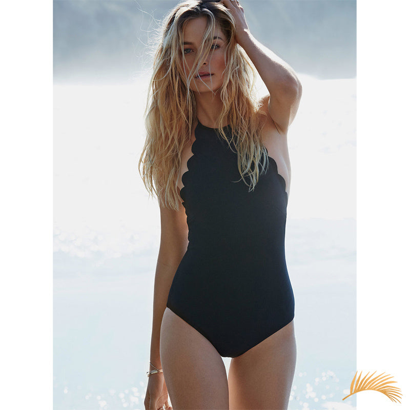 Gibraltar | Flounce Halter One Piece Swimsuit