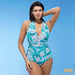 Grace Bay | Halter Push Up Plus Size One Piece