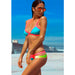 Hollywood | Strappy Neon Color Block Wrapping  Bikini