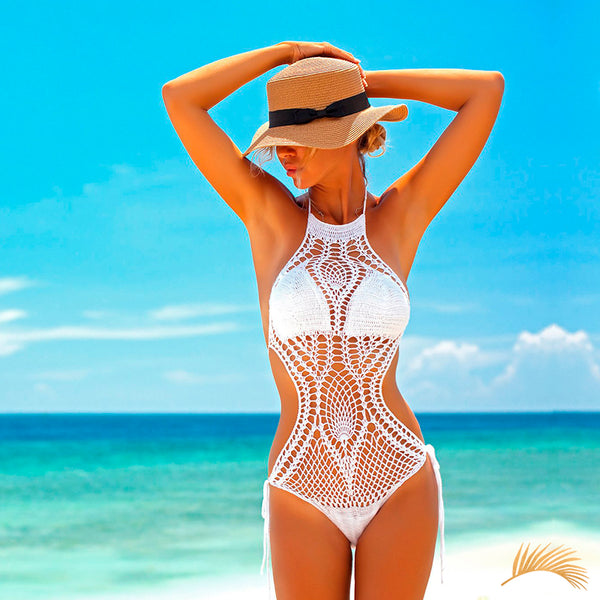 Kalapana | Halter Crochet Tide Side One Piece Swimsuit