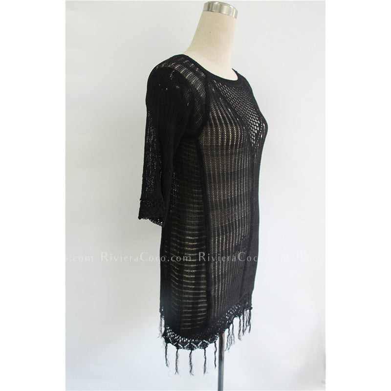 Knitted Cover Up With Tassels