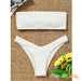 Kuta Beach | Ribbed High Cut Strapless Bikini