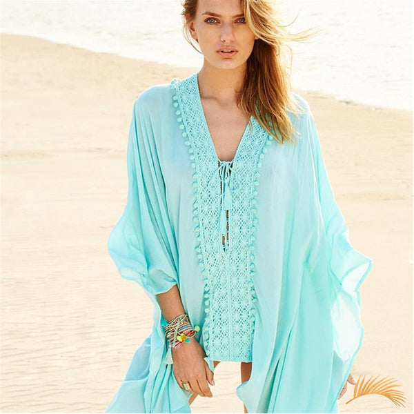 Lace-up Cotton Tunic
