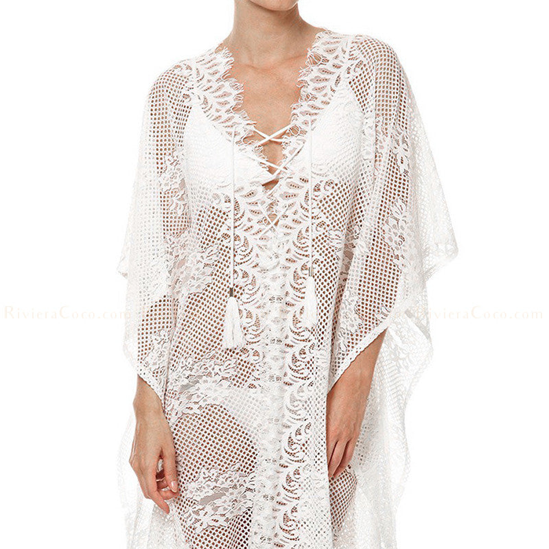 Lace Long Kaftan
