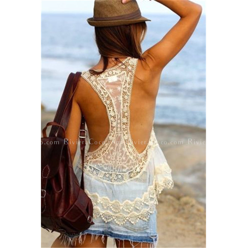 Little Lace Cover Up
