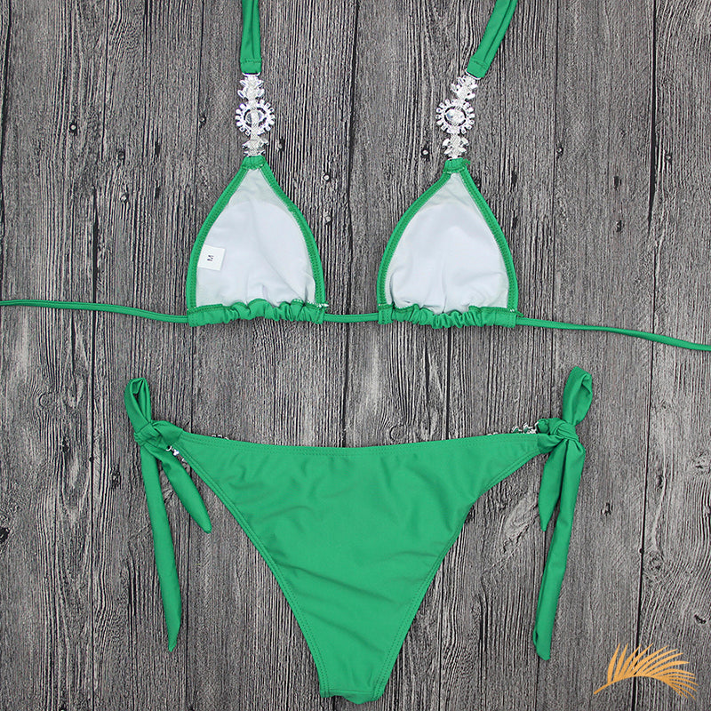 Long Beach | Halter Ribbon Tide Side Jewelry Bikini