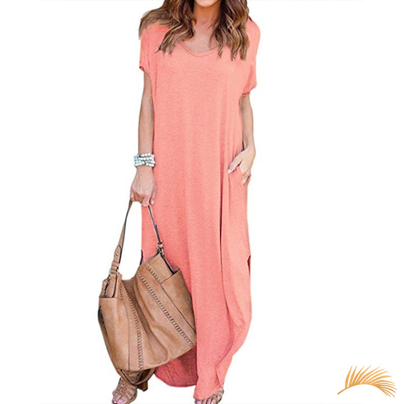 Long T-shirt Dress With Pockets